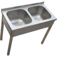 Kétmedencés mosogató, 400x500x250 medence