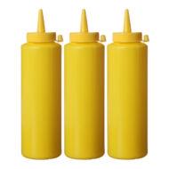Szószos flakon, sárga, 70cl (3db)