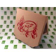 Pizza doboz 32 cm csapott sarkú barna, 100Db