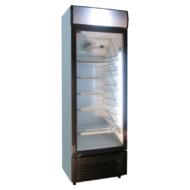 Üvegajtós hűtővitrin 350 literes