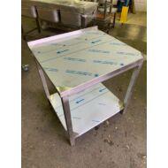Munkaasztal, alsó polc, hátsó felhajtás, 800x700x850mm