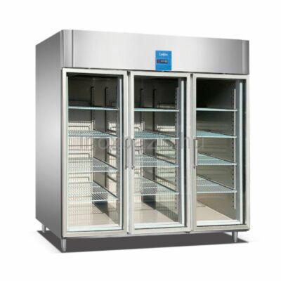 Rozsdamentes hűtőszekrény, 2100 literes ÜVEGAJTÓS