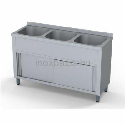 Hárommedencés mosogató szekrény, 400x400x300 medence