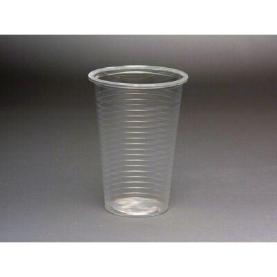 2 dl műanyag pohár, víztiszta