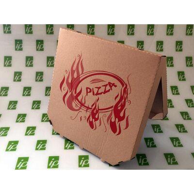 Pizza doboz 32 cm csapott sarkú barna