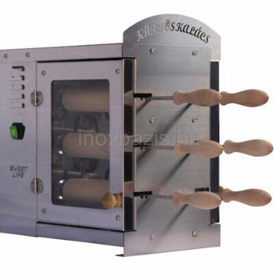 Kürtöskalács sütő 2x3-as