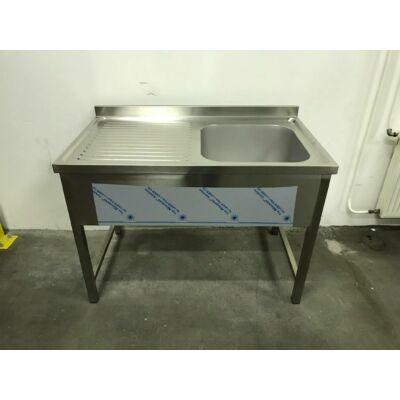Egymedencés mosogató, bal oldalon csepegtetővel, 500x500x300-as medence