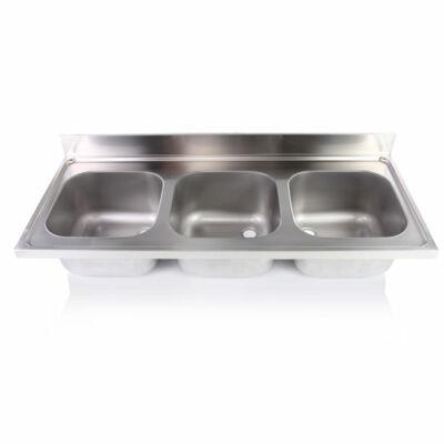 Hárommedencés mosogatófedlap 400x500x250mm