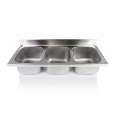 Hárommedencés mosogatófedlap 500x600x300mm