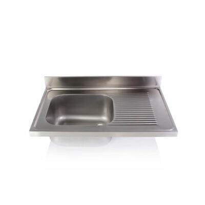 Egymedencés mosogatófedlap csepegtetővel 500x400x250mm