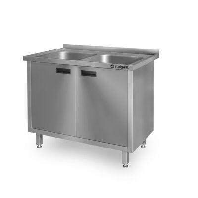 Kétmedencés mosogató szekrény, 400x400x300 medence