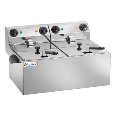 Elektromos olajsütő 2x8 liter