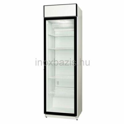 Üvegajtós hűtővitrin 385 literes
