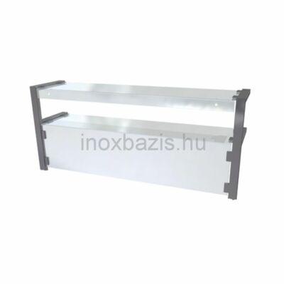 Egyenes üveges felépítmény önkiszolgálós felső üveggel, 1500 mm