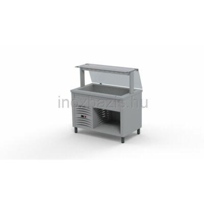 Hűtő pult 3xGN 1/1, egyenes üveges felépítménnyel 1150 MM