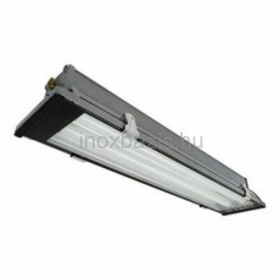 Fémházas lámpatest elszívó ernyőbe, 2×58 W