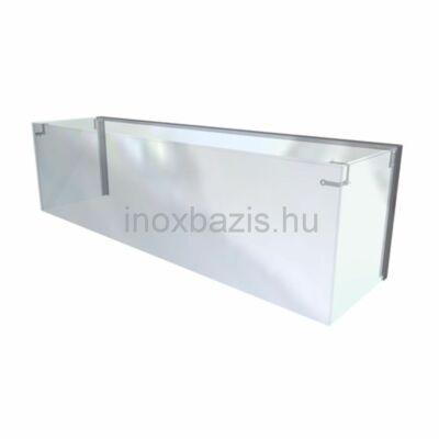 Egyenes üveges felépítmény LED világítással, 1150 mm