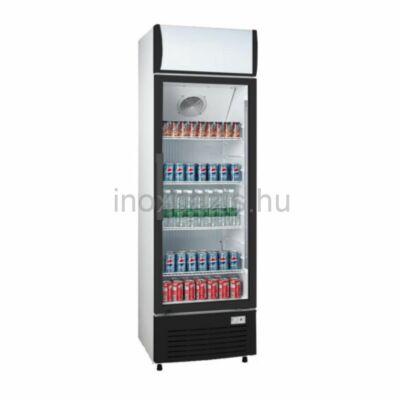Üvegajtós hűtővitrin 200 literes