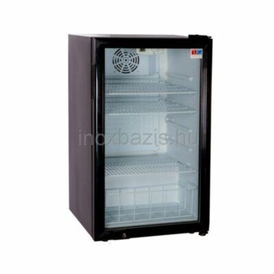 Üvegajtós hűtővitrin 98 literes