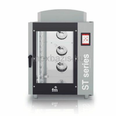 FM SMART Kombi sütő 10 tálcás digitális, gázos (60×40 cm vagy GN1/1)