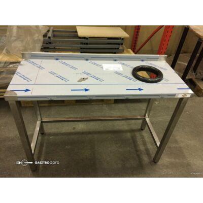 Munkaasztal 1200X500X850 Jobb oldalon moslékoló nyílás
