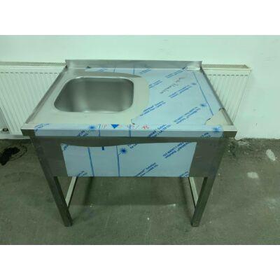 Egymedencés mosogató asztal 900x700mm