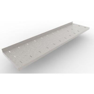 Perforált fali polc konzollal 400 széria, 2400 mm hosszú