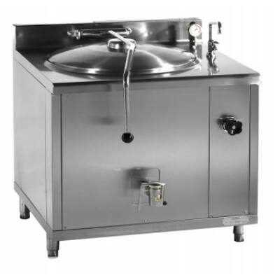 Gőzüzemű főzőüst, 100 liter